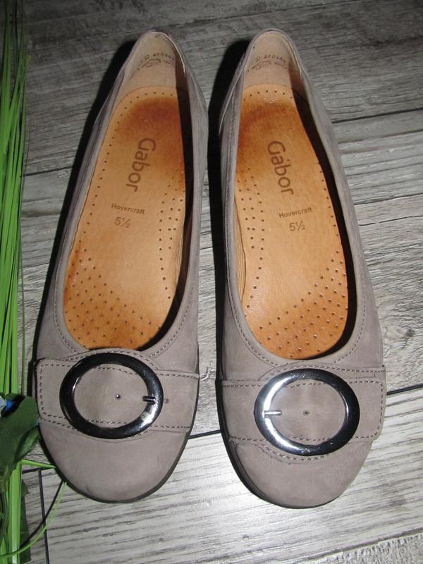 Суперкомфортные кожаные туфли gabor р. 5,5 стелька 25,5
