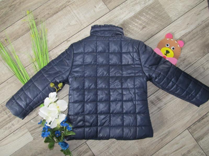 Стильная стеганная куртка от pusblu  на 4-5 лет - Фото 3