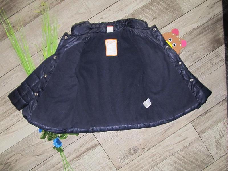 Стильная стеганная куртка от pusblu  на 4-5 лет - Фото 4