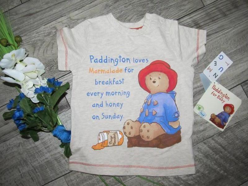 Медвежонок педингтон  футболка nutmeg р.9-12мес