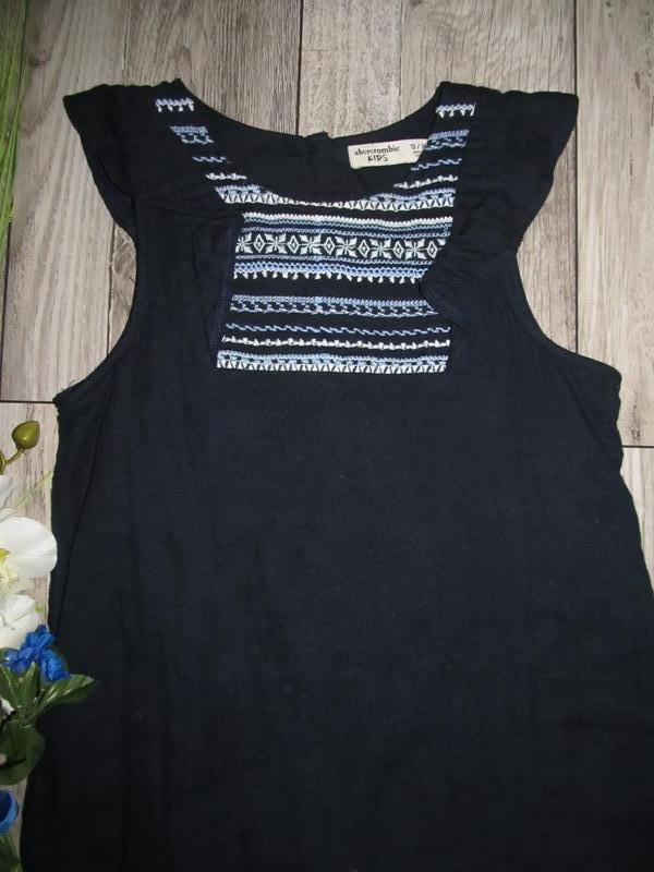 100% коттон  платье abercrombie kids на рост 140 см  смотрите ... - Фото 2