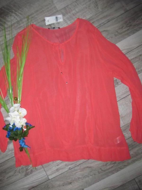 Красивенная блуза от next р. 22 - 100% вискоза