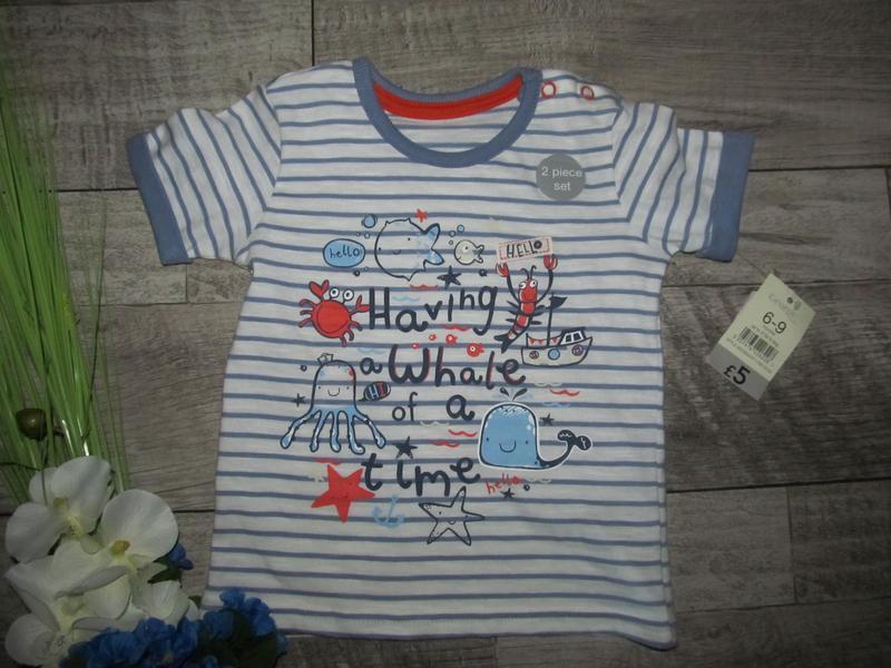 Хлопковая футболка george р.6-9мес