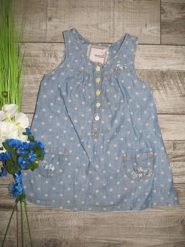 Джинсовое платье next girls dresses на 3 года