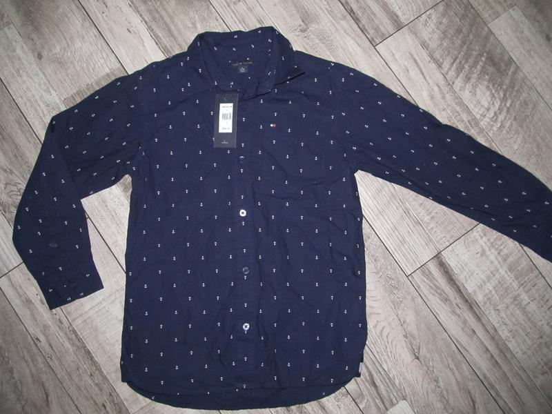 Оригинал рубашка tommy hilfiger мальчик 8-10 лет