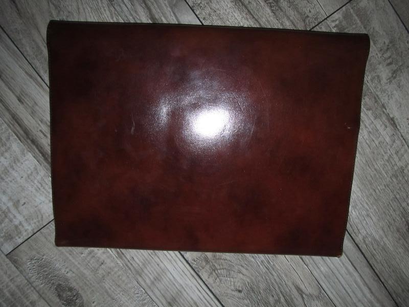 Кожаная папка для документов и бумаг 37х28см - Фото 2