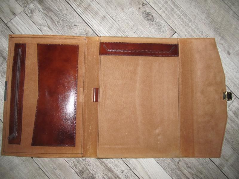 Кожаная папка для документов и бумаг 37х28см - Фото 3
