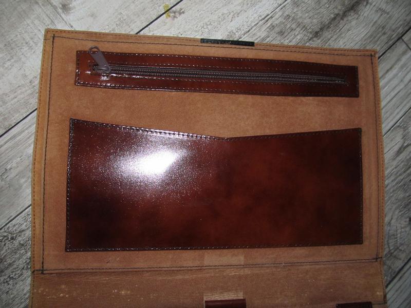 Кожаная папка для документов и бумаг 37х28см - Фото 9