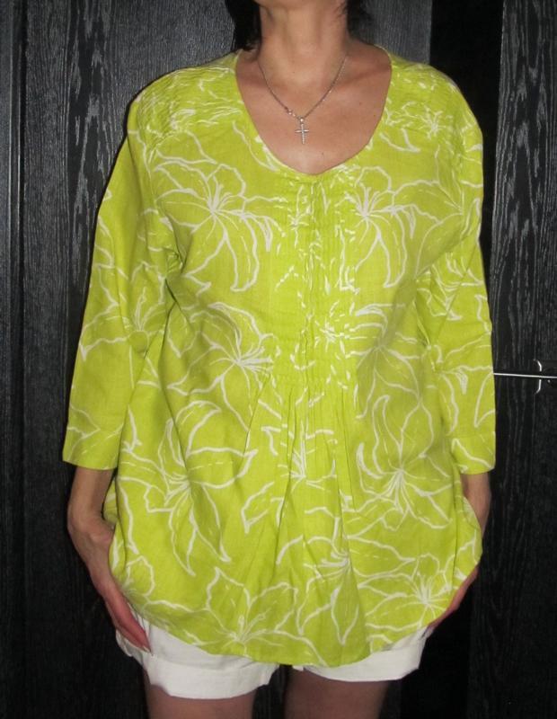 Блуза рубашка от cotton tradess р.16