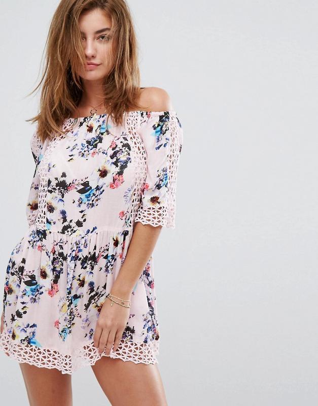 Пляжное платье river island  р.xs