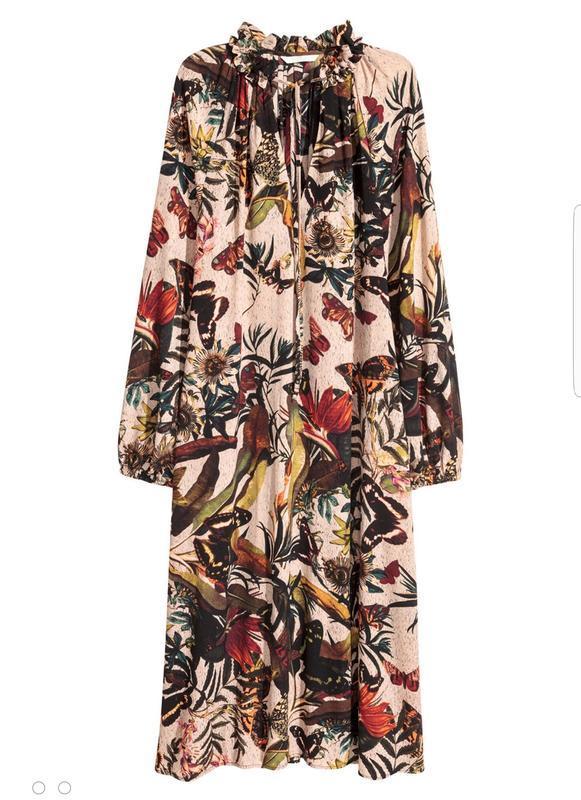 Стильное платье миди h&m свободного кроя