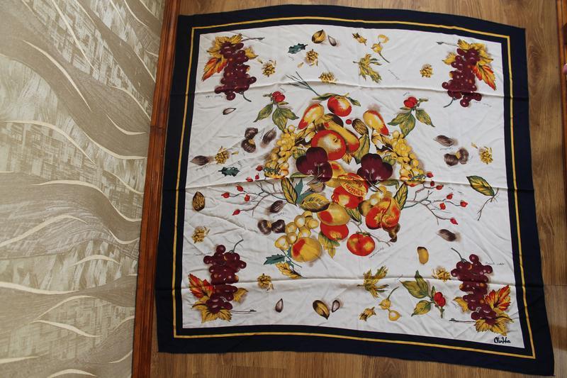 Очень красивый большой шелковый платок натюрморт chun hua