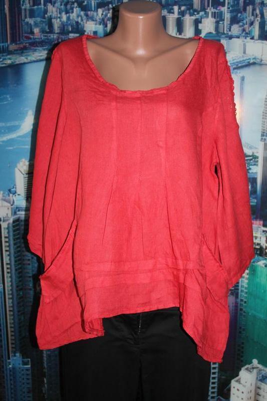 Блуза бохо 100% лен