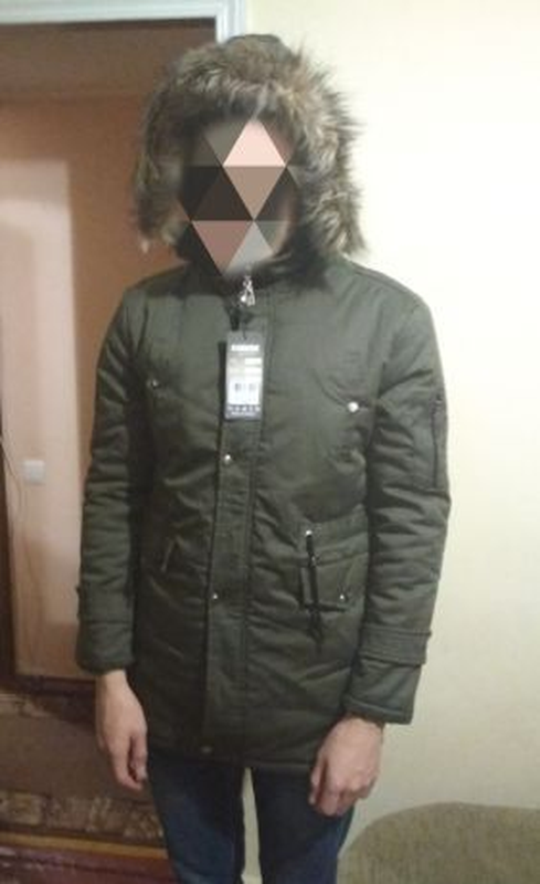Зимняя парка куртка мужская М хаки зеленая 48
