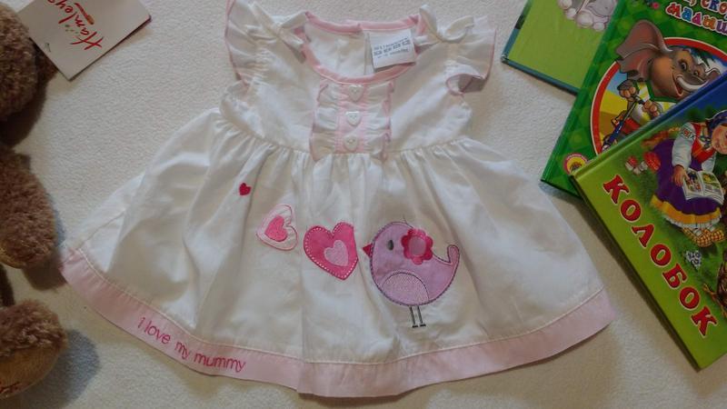 """Милейшее платье для новорожденной """"nursery time"""", 0-3 месяца"""