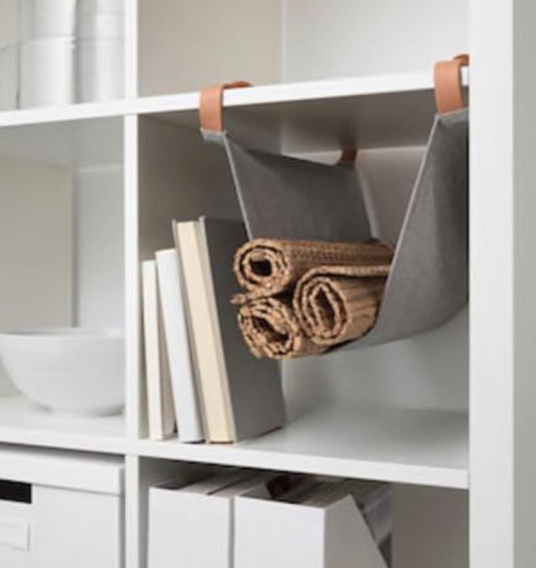 IKEA KALLAX Подвесная Секция для Аксессуаров, кожа ИКЕА КАЛЛАКС