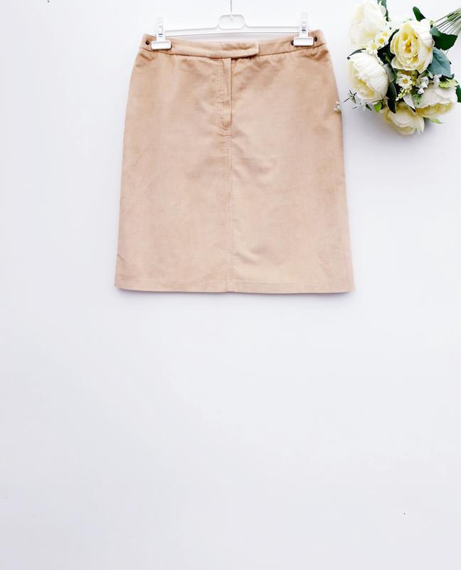 Крутая вельветовая юбка миди стильная юбка с вельвета