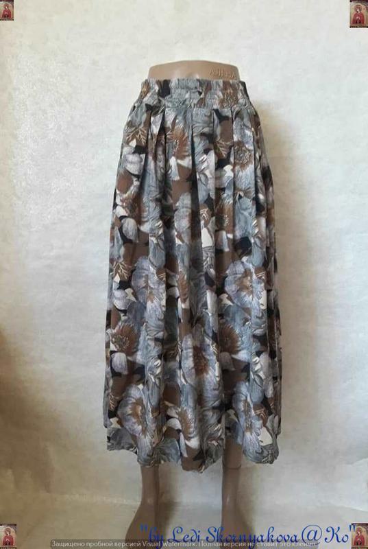 Новая пышная плессированная пышная пышная  юбка миди со 100 % ...