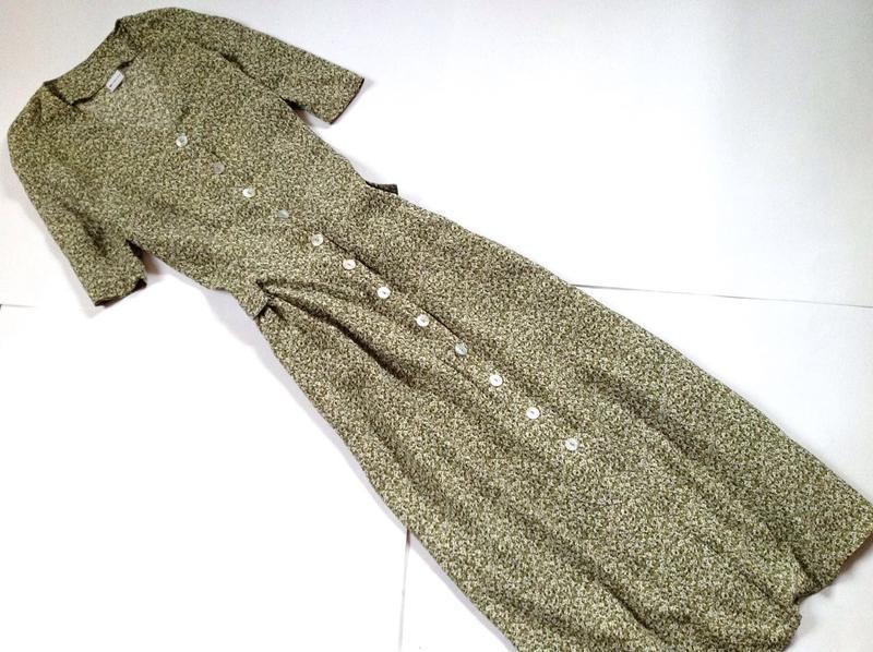 Платье рубашка миди винтаж