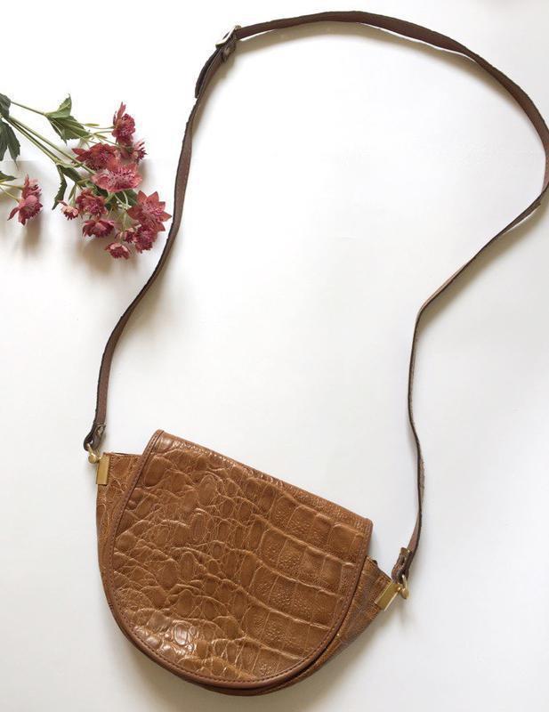 Сумка з довгою ручкою на плече, коричнева сумка, через плечо.