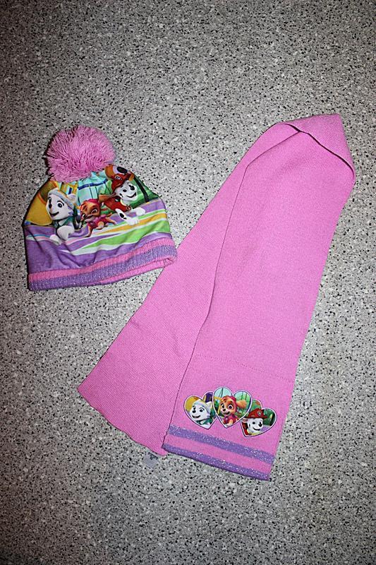 Комплект шапка и шарф щенячий патруль