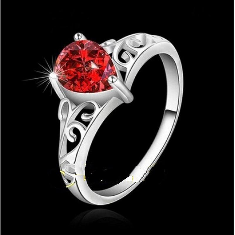 🏵потрясающее кольцо с гранатом-цирконом в серебре 925, 18 р., ...