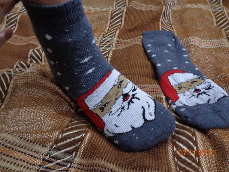 Махровые женские носки новогодние. качество.   последняя пара