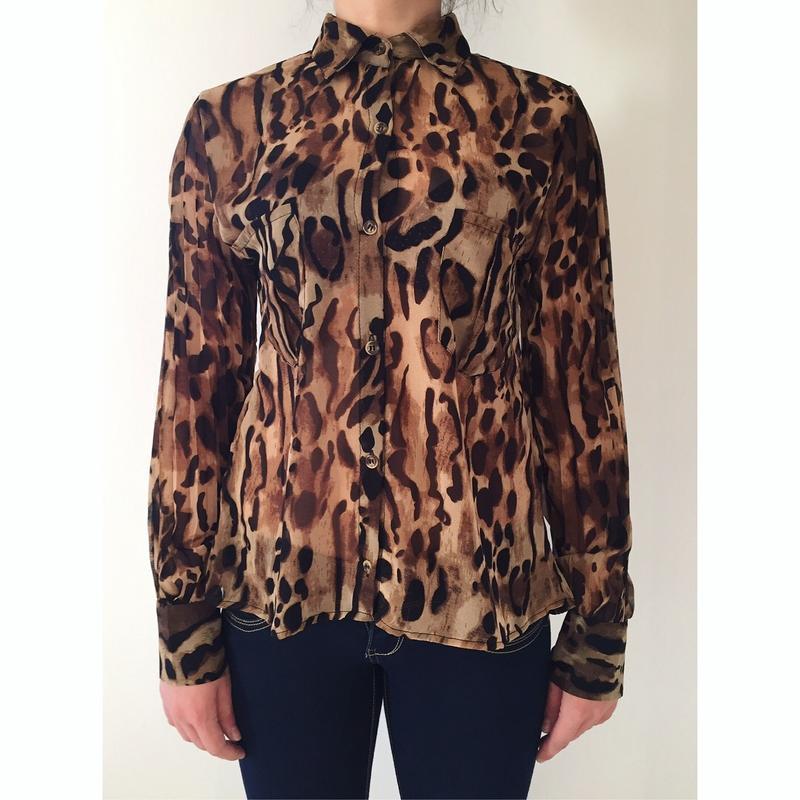 Рубашка, блуза, тренд 2019, тваринний принт, леопардовая рубашка.