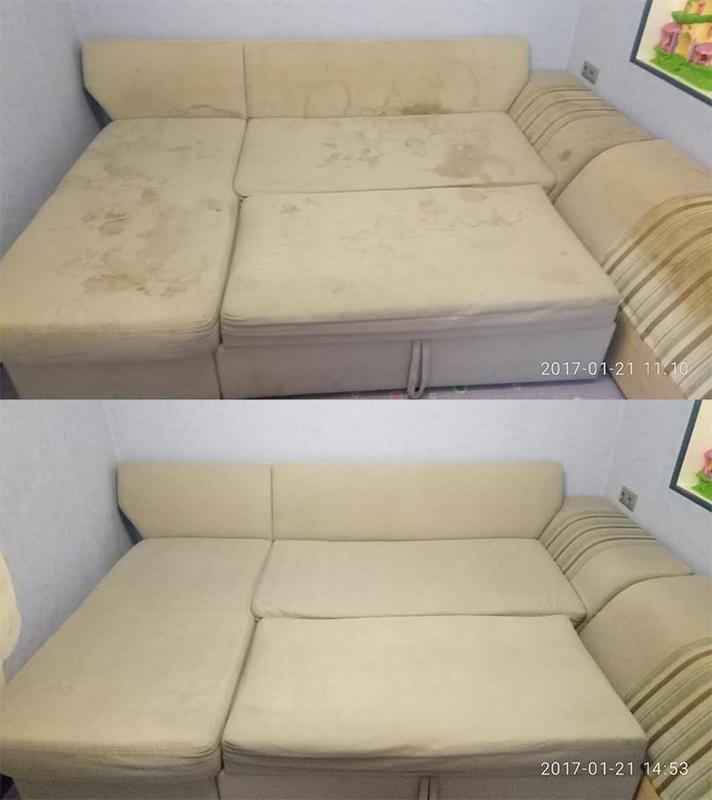 Химчистка 3-х местного дивана - Фото 3