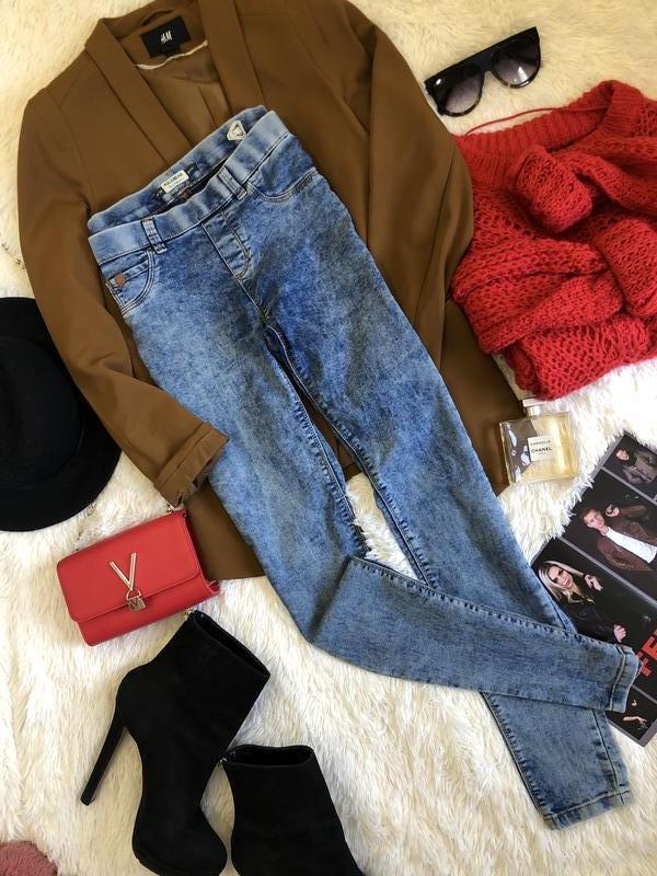 Идеальные джинсы резинки pull & bear размер м (28)