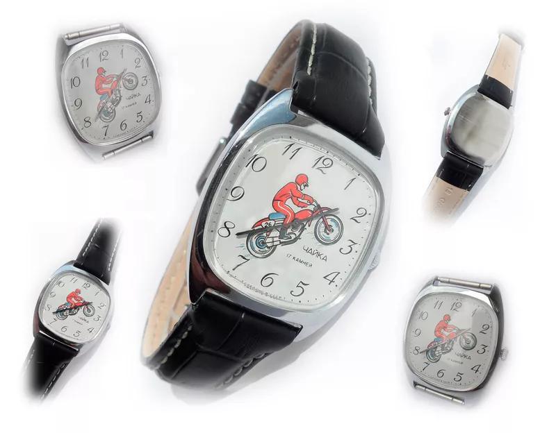 «МОТОСПОРТ_ЧАЙКА» часы МУЖСКИЕ, МЕХАНИКА наручные сделано в ссср