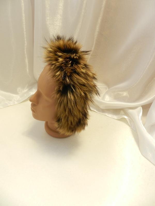 ✅ пушистая опушка на капюшон детская натуральный мех енот
