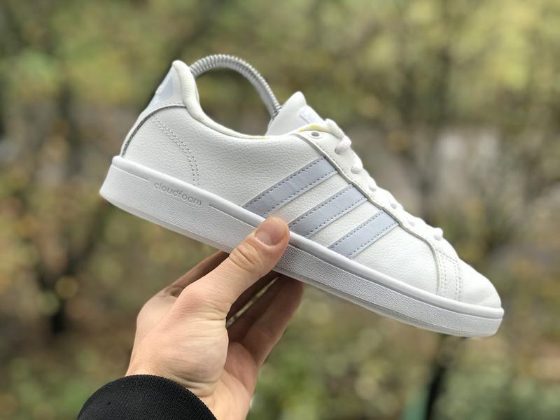 Adidas cloudfoam advantage шкіряні кросівки
