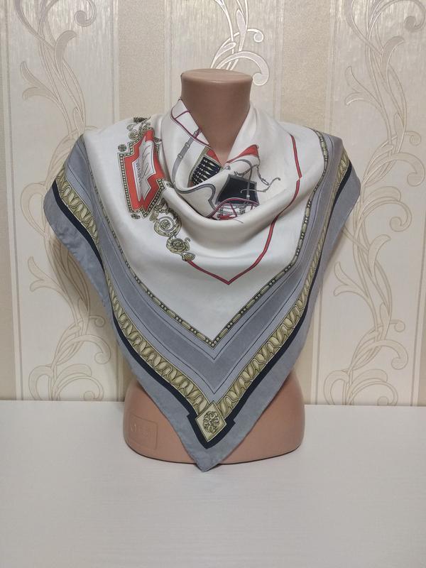 Подписной шелковый платок, 75*78см,