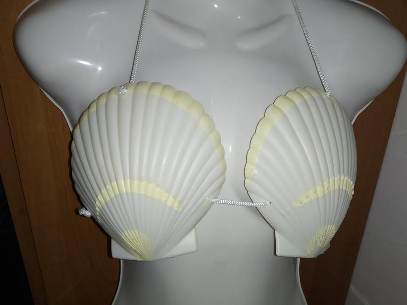 Ракушки на грудь для костюма русалка