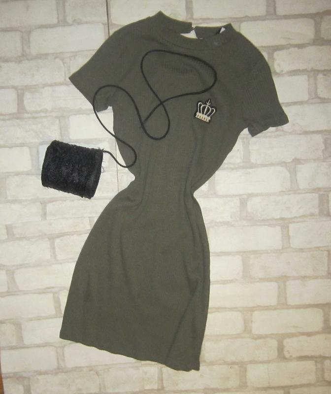Финальная распродажа!!! модное платье в рубчик, цвета заки, с ...