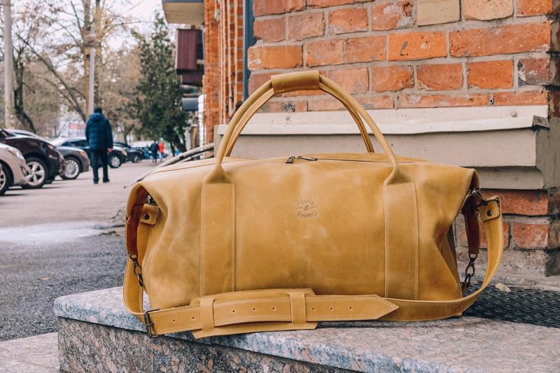 Коричневая спортивная сумка, дорожная кожаная сумка