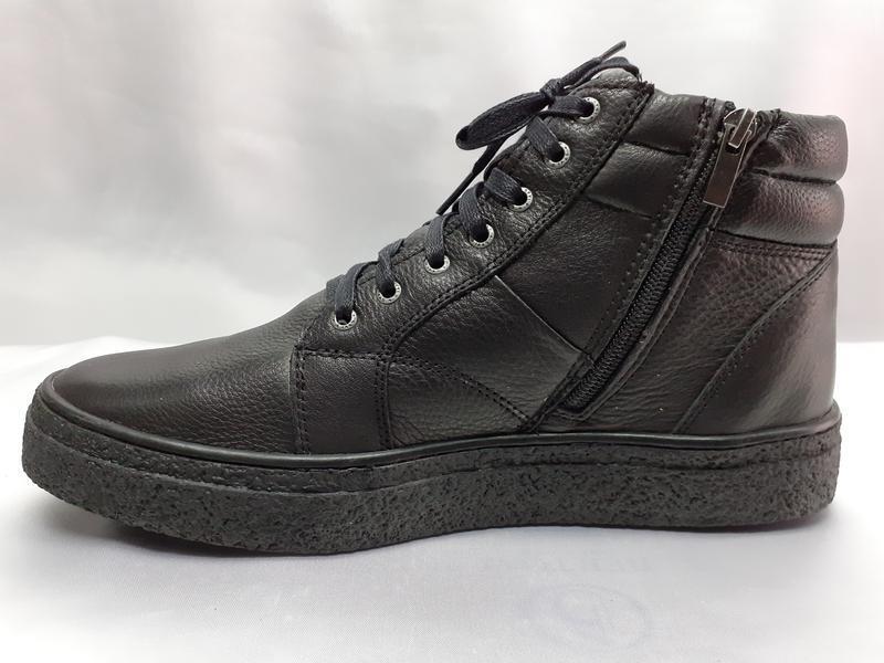 Зимние ботинки под кеды на цигейке на молнии detta
