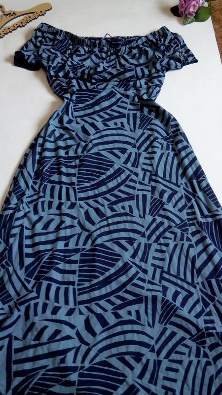 Платье  52 54 размер длинное нарядное бюстье новое в пол синее...