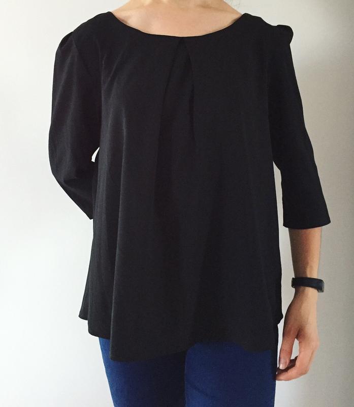 Блуза черного цвета, блузка, кофта.