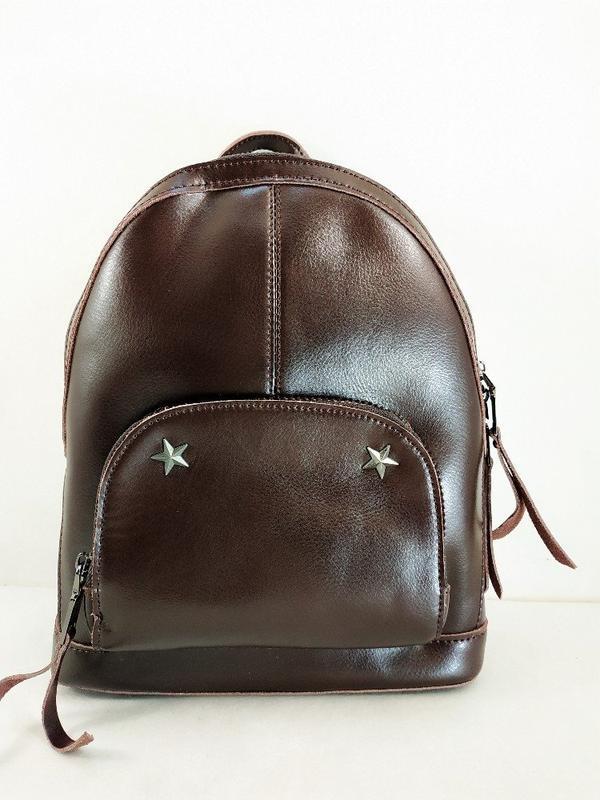 Суперовый кожаный рюкзак