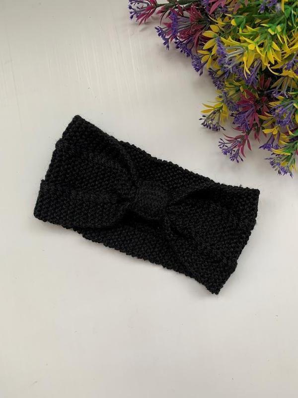 Вязаная женская повязка на волосы