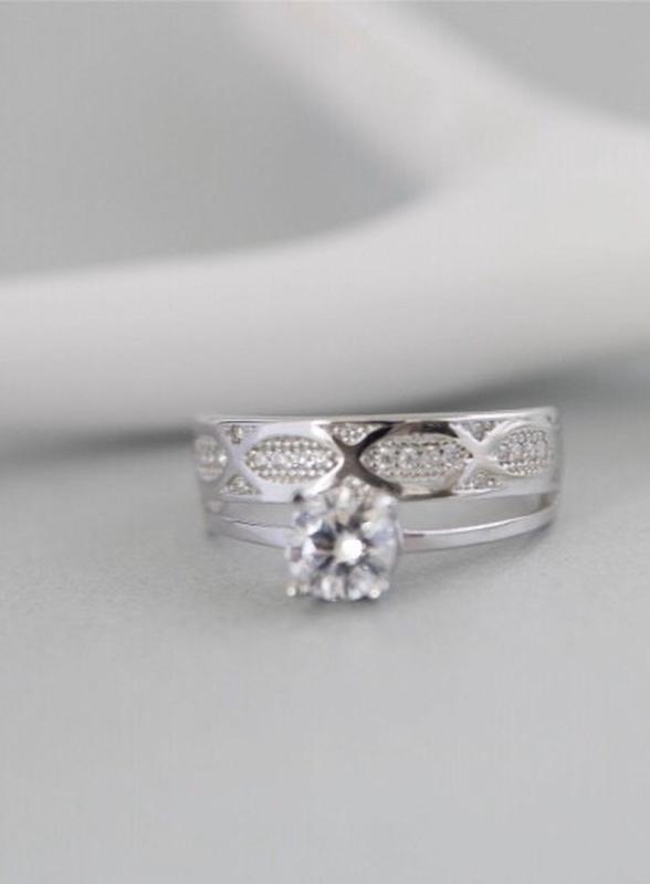 Кольцо серебряное двойное лк0241