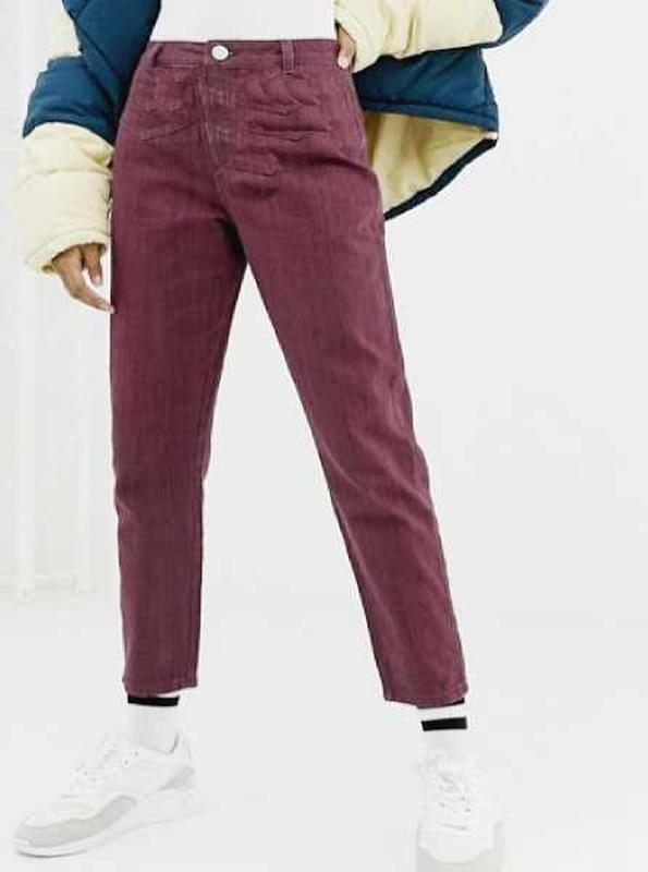 Крутые джинсы бойфренды,цвета морсала