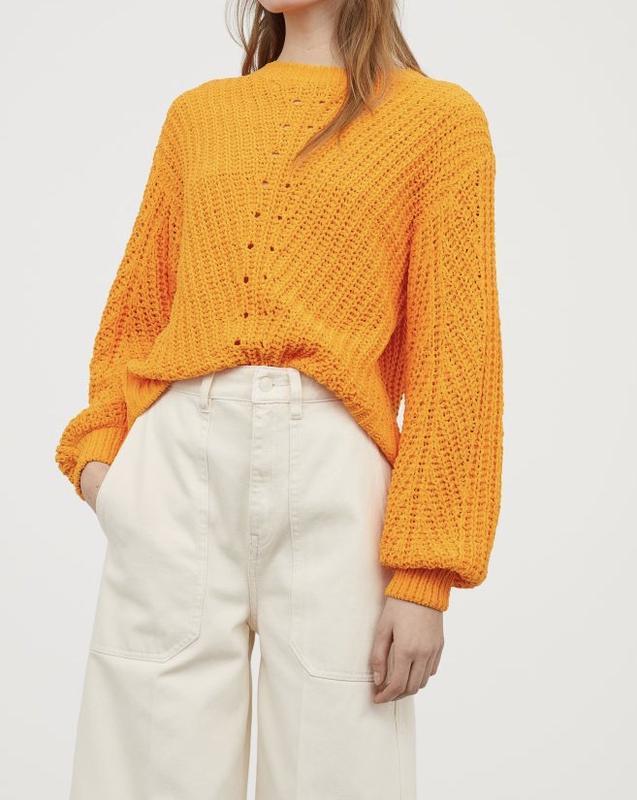 Бархатный, объемный свитер от h&m