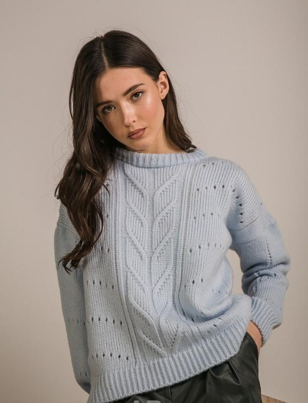 Теплый вязаный свитер оверсайз oversize