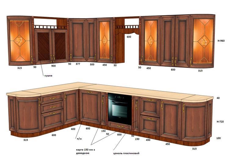 Проектирование, визуализация для изготовления кухонной мебели ...