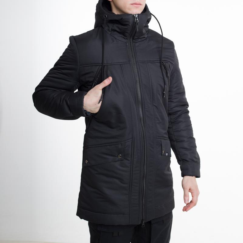 Мужская зимняя куртка чёрная🤗