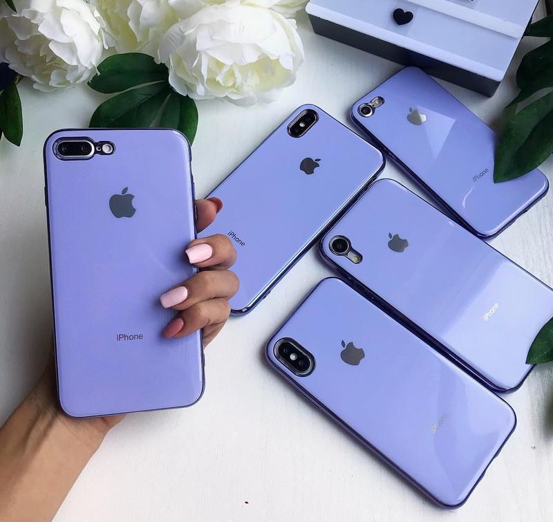 Силіконовий чохол з імітацією скла silicone glass case для iphone