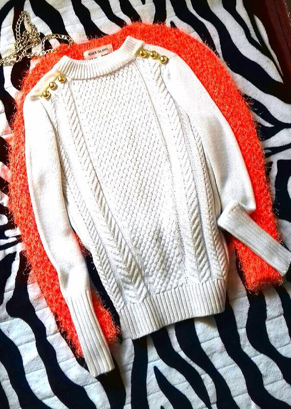 H&m шикарный свитер кофта джемпер котон в косичку